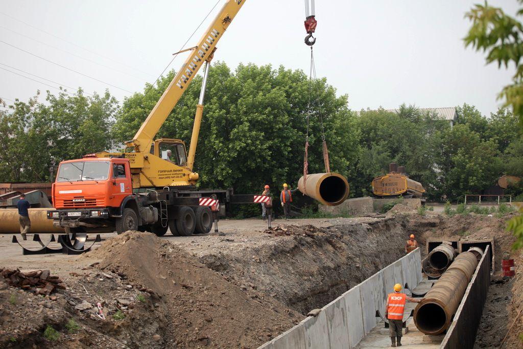 Демонтаж коммуникаций: водопровода, теплотрасс, металлических опор